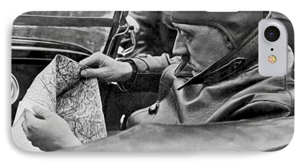Hitler Studies Road Map IPhone Case by Underwood Archives