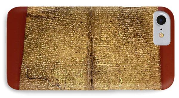 Hittite Cuneiform Tablet IPhone Case by David Parker