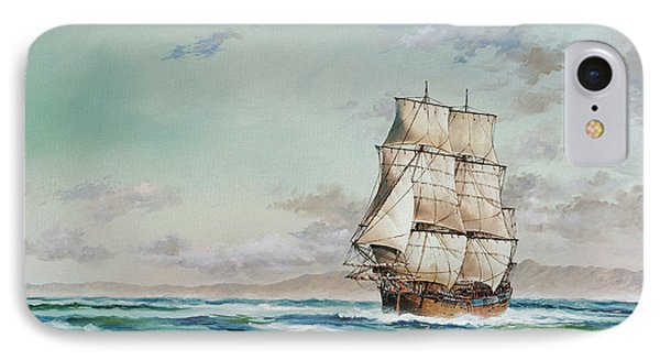 Hms Endeavour IPhone Case by James Williamson