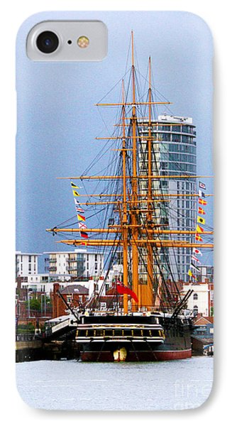 Hms Warrior Portsmouth Phone Case by Terri Waters