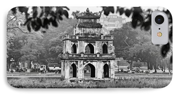 Hoan Kiem Lake Bw IPhone Case by Chuck Kuhn