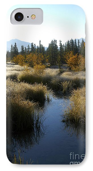 Hoar Frost And Stream IPhone Case by Jessie Parker