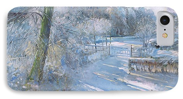 Hoar Frost Morning Phone Case by Timothy  Easton