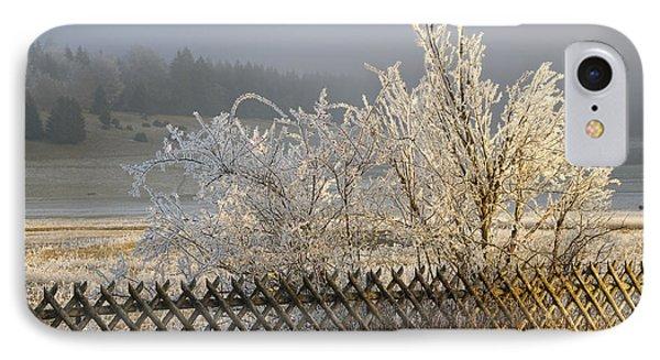 Hoarfrost In Winter Phone Case by Matthias Hauser