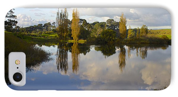 Autumn At Hobbiton Lake New Zealand IPhone Case by Venetia Featherstone-Witty