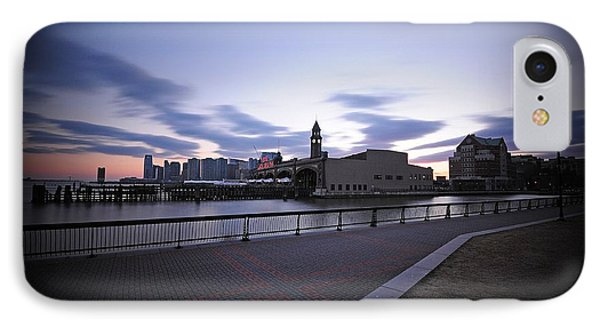 Hoboken Overlooking The Ferry Phone Case by Paul Ward
