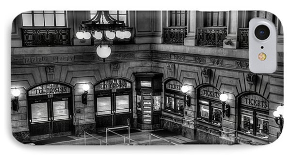 Hoboken Terminal Waiting Room IPhone Case by Anthony Sacco