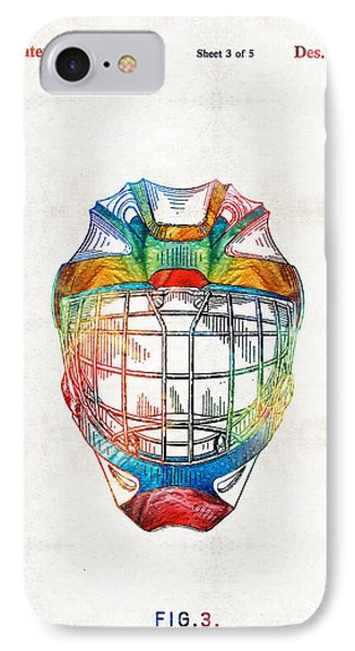 Hockey Art - Goalie Mask Patent - Sharon Cummings IPhone Case
