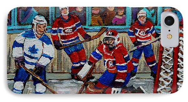 Hockey Art Vintage Game Montreal Forum IPhone Case by Carole Spandau
