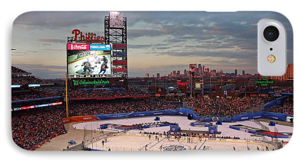 Hockey At The Ballpark IPhone Case