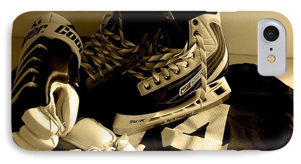Hockey Black And White IPhone Case by John Turner
