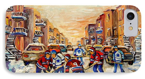 Hockey Daze IPhone Case by Carole Spandau