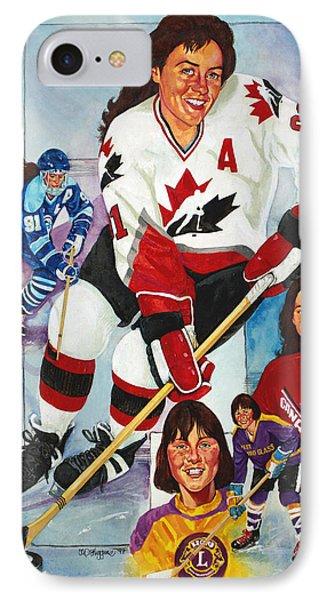 Hockey Hall Of Famer Geraldine Heaney IPhone Case by Derrick Higgins
