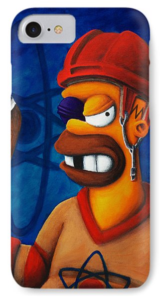 Hockey Homer Phone Case by Marlon Huynh