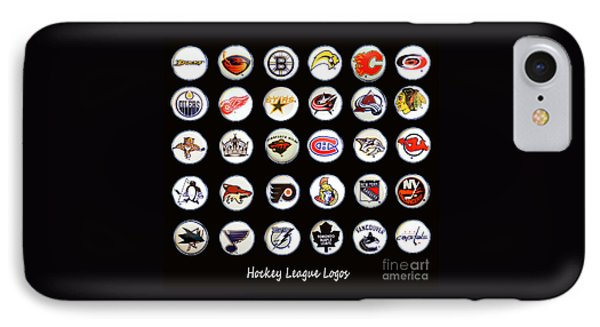 Hockey League Logos Bottle Caps Phone Case by Barbara Griffin