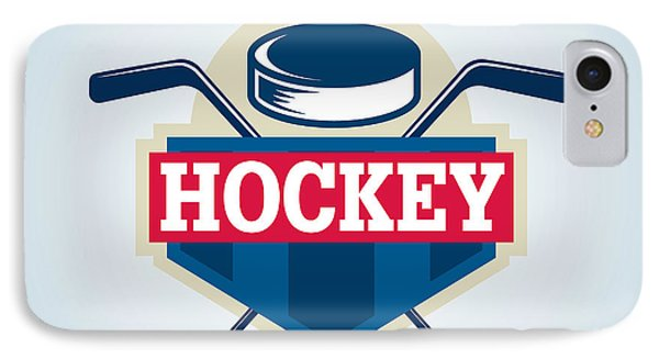 T Shirts iPhone 7 Case - Hockey Logo,sport by Vextor Studio