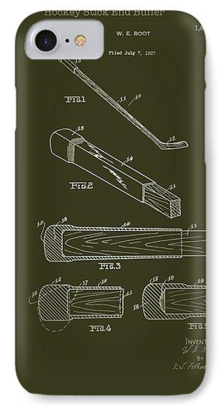 Hockey Stick End Buffer Patent 1928 IPhone Case