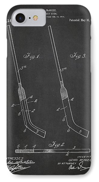 Hockey Stick Patent Drawing From 1916 IPhone Case by Aged Pixel