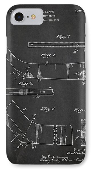 Hockey Stick Patent Drawing From 1929 IPhone Case by Aged Pixel