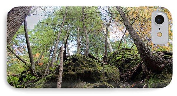 Hocking Hills Moss Covered Cliff Phone Case by Karen Adams