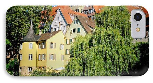 Hoelderlin Tower In Lovely Tuebingen Germany IPhone Case by Matthias Hauser