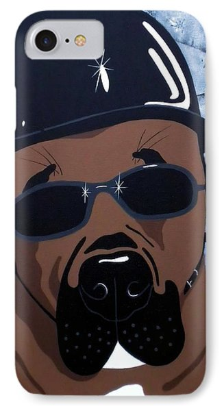 Hog Dog Phone Case by Julie Stubbs