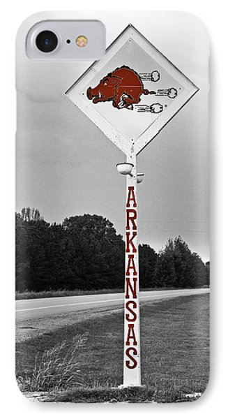 Hog Sign IPhone Case by Scott Pellegrin