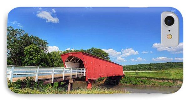 Hogback Covered Bridge IPhone Case by Eddie Yerkish