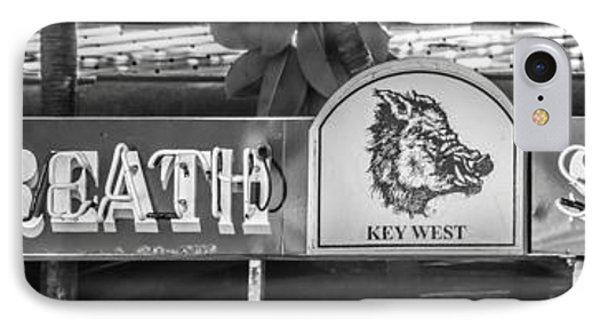 Hog's Breath Saloon 1 Key West - Black And White IPhone Case