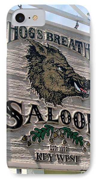 IPhone Case featuring the photograph Hog's Breath Saloon by Fiona Kennard