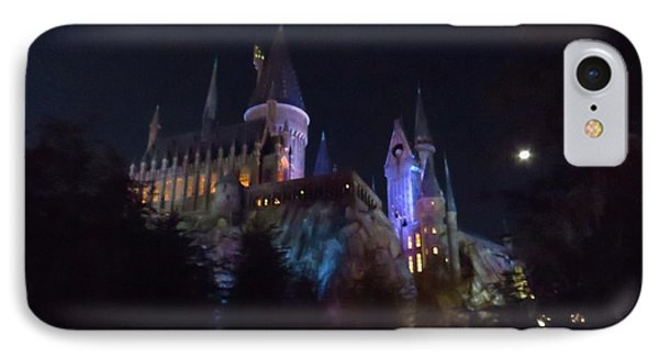 Hogwarts Castle In Lights IPhone Case by Kathy Long