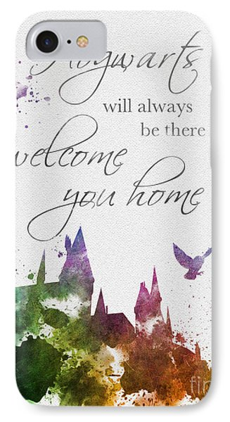 Hogwarts Will Welcome You Home IPhone Case by Rebecca Jenkins