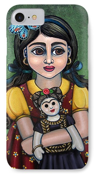 Holding Frida With Butterfly Phone Case by Victoria De Almeida