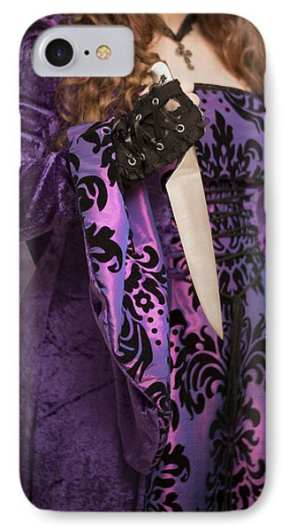 Holding Knife Phone Case by Amanda Elwell