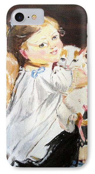 IPhone Case featuring the painting Holding On by Judy Kay