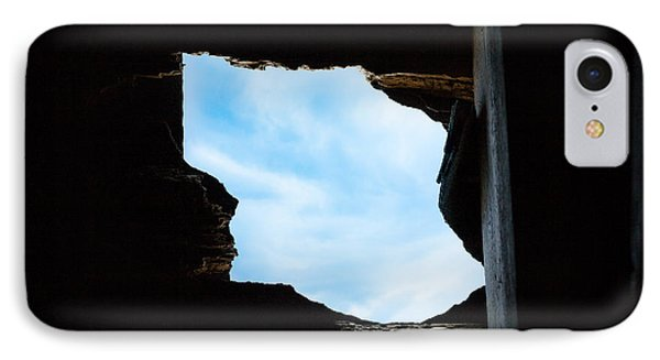 IPhone Case featuring the photograph Hole In The Roof  by Gary Heller
