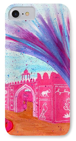 Holi In Jaipur India IPhone Case