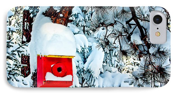 Holiday Birdhouse Phone Case by Teri Virbickis