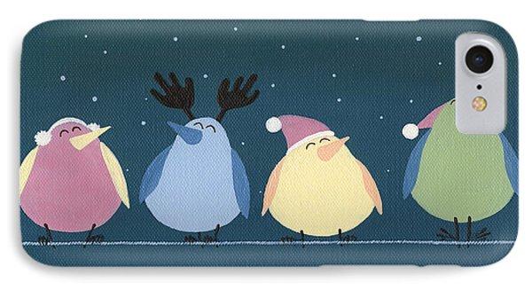 Holiday Birds IPhone Case by Natasha Denger