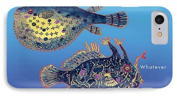 IPhone Case featuring the digital art Holiday Fish Card by David Klaboe