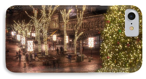 Holiday In Quincy Market IPhone Case