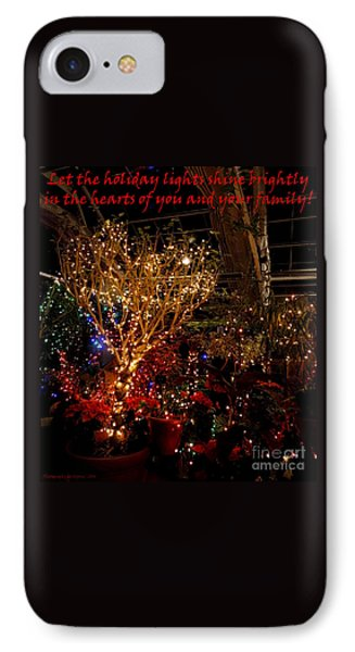 Holiday Lights Greeting Card IPhone Case