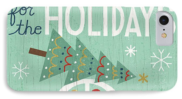 Holiday On Wheels I IPhone Case by Michael Mullan