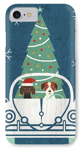 Holiday On Wheels Xiii Navy IPhone Case by Michael Mullan