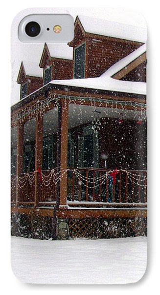 Holiday Porch IPhone Case by Claudia Goodell