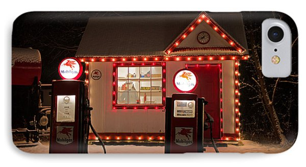 Holiday Service Station IPhone Case by Susan  McMenamin