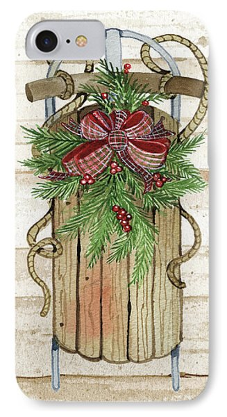 Holiday Sports II On Wood IPhone Case by Kathleen Parr Mckenna