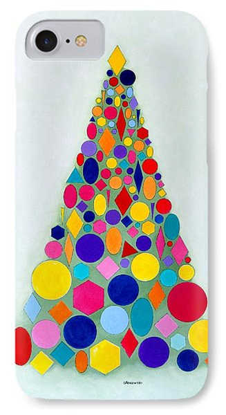 Holiday Tree #1 IPhone Case by Thomas Gronowski
