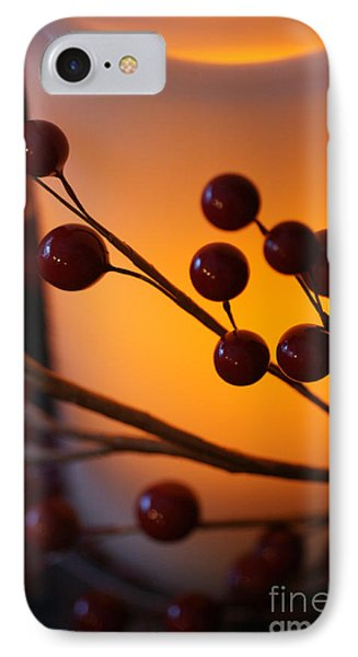 IPhone Case featuring the photograph Holiday Warmth By Candlelight 1 by Linda Shafer