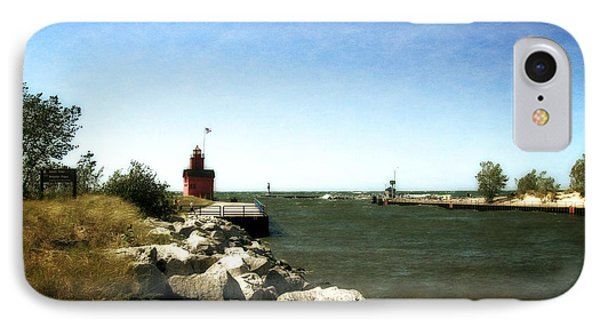 Holland Channel And Big Red IPhone Case by Michelle Calkins